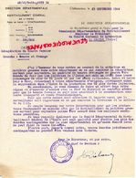 36- CHATEAUROUX- RARE LETTRE RAVITAILLEMENT INDRE-1944- GUERRE 1939-1945- LIBERATION RESISTANCE LA CHATRE- BEURRE FROMAG - 1939-45