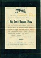 PEDERGNAGA-NOBILE PIETRO DEI CONTI FE' D'OSTIANI-CAVALIERE DI MALTA-1901-AFFRANCATO CON 2 CENT- ROSSO  BRUNO-UMBERTO I° - Avvisi Di Necrologio
