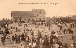 59739Aubigny Au Bac Plage - La Plage ( Très Animée)Non Circulée - Francia