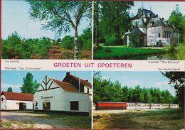 Opoeteren Maaseik Belgisch Limburg Groeten Uit Grote Kaart De Heide Kasteel De Schans Manege De Volmolen 1975 (kreukje) - Maaseik