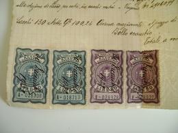 1932  GINOSA    A  CALIMERA  AZIENDA  AGRICOLA  REGNO D'ITALIA  BOLLO SCAMBI COMMERCIALI   LIRE 50  20   Fattura - Italia