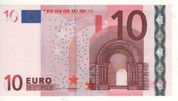 """10 EURO  """"U""""  France     Firma Trichet    L 050 E3  Ch. 49 /  FDS - UNC - EURO"""