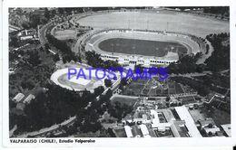 87287 CHILE VALPARAISO STADIUM ESTADIO SOCCER FUTBOL POSTAL POSTCARD - Chili