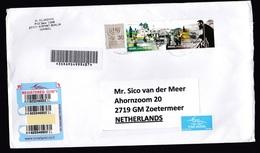 Israel: Registered Airmail Cover To Netherlands, 2012, 3 Stamps, History, R-label (left Stamp Damaged) - Israël