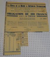 Le Reveil De La Marne Et Imprimerie Sparnacienne à Epernay - Industrie