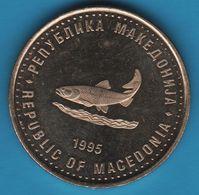 MACEDONIA 2 DENARS 1945-1995 FAO FIAT PANIS KM# 6 POISSON FISH - Macedonia