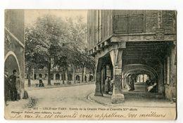 Ref 200 - LISLE-sur-TARN - Entrée De La Grande Place Et Couverts XVè Siècle - Lisle Sur Tarn