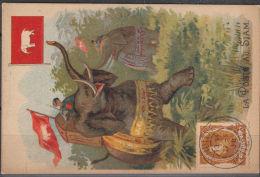 FRANCE: CHROMO LA POSTE AU SIAM (4677) - Siam