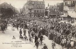 Belfort - Les Obsèques De Notre Célèbre Aviateur Pégoud - 3 Septembre 1915 - Le Cortège Officiel - Belfort - Ville