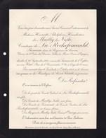 PARIS Henriette De MAILLY De NESLE Comtesse De LA ROCHEFOUCAULD Princesse En Bavière  61 Ans 1913 - Décès