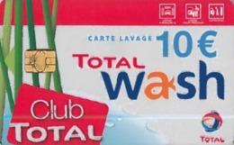 # Carte A Puce Portemonnaie Lavage Total - Club Total - 800 Stations - 10 Euros - Tres Bon Etat- - Frankrijk