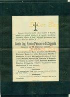 ZOPPOLA-1907-CONTE ING. NICOLO' PANCIERA DI ZOPPOLA-CAVALIERE DEI SS. MAURIZIO E LAZZARO-AFFRANCATO COL 2 CENT.V.E. III° - Avvisi Di Necrologio
