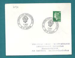 Aisne - St Quentin. 65e Congrès Expo Chrysanthemistes. 1971 - Postmark Collection (Covers)