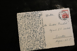Palestine 8m Scarlet On Post Card To Niger Cancelled Nazareth 1932 04s - Palestine
