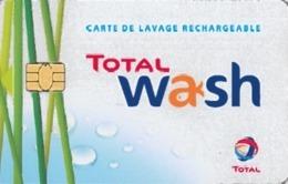 # Carte A Puce Portemonnaie Lavage Total - Plante Et Gouttes - Carte De Lavage Rechargeable - 800 Stations - TBE - Frankrijk