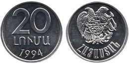 ARMENIA 20 Lumi 1994 UNC  Bank Bag - Armenia