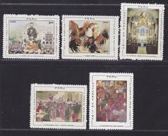 PEROU AERIENS N°  277 à 281 ** MNH Neufs Sans Charnière, TB (D5027) Tableaux, Festivités à Lima - Peru