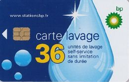 # Carte A Puce Portemonnaie  Lavage BP - Goutte - 36u Puce2? - Tres Bon Etat - - Frankrijk
