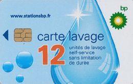 # Carte A Puce Portemonnaie  Lavage BP - Goutte - 12u Puce1? - Tres Bon Etat - - Frankrijk
