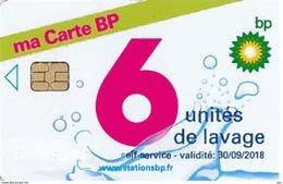 # Carte A Puce Portemonnaie Lavage BP Ma Carte BP 6u Puce1? Validité 30/09/2018 Ne Peut être Vendue Gratté Tres Bon Etat - Frankrijk