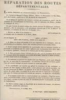 Réparation Des Routes Départementales Porrentruy 1812  Imprimé - Decrees & Laws