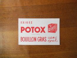POTOX PRODUIT LIEBIG BOUILLON GRAS SANS EGAL POT AU FEU INTEGRAL - Buvards, Protège-cahiers Illustrés
