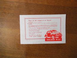 4 CV RENAULT 500 000e - Automobile