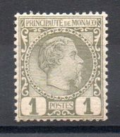 MONACO - YT N° 1 - Neuf ** - MNH - Cote: 52,50 € - Neufs