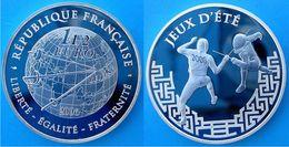 FRANCE 1,5 E 2006 ARGENTO PROOF SILVER FRANCE EURO JEUX D'ETE ESCRIME GIOCHI D'ESTATE PESO 22,2g TITOLO 0,900 CONSERVAZI - France