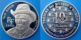 FRANCE 10 F 1996 ARGENTO PROOF SILVER 1,5 EURO VINCENT VAN GOGH PEINTRE PESO 22,2g TITOLO 0,900 CONSERVAZIONE FONDO SPEC - K. 10 Francs