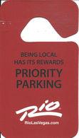 Rio Casino - Las Vegas, NV - Priority Parking Hanger - Expires March 31, 2014 - Casino Cards