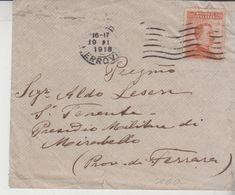 Regno 1918 Genio Militare Di Mirabello Ferrara - Storia Postale