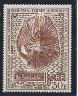 TAAF 1970 - YT PA N°22 - 30 F. - 20ème Anniversaire De La Station Météorologique De L' Ile D' Amsterdam - NEUF* TTB Etat - Poste Aérienne