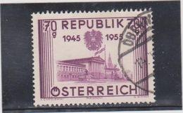 AUTRICHE  1955  Y.T. N° 845  à  849  Incomplet  Oblitéré  845 - 1945-60 Used