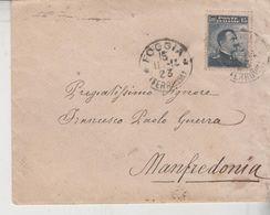 Regno 1914 Tondoriquadrato Foggia Per Manfredonia - 1900-44 Victor Emmanuel III