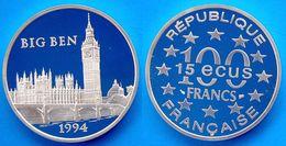 FRANCE 100 F 1994 ARGENTO PROOF PALAZZI CAMPANILE BIG BIG PESO 22,2g TITOLO 0,900 CONSERVAZIONE FONDO SPECCHIO - N. 100 Francs