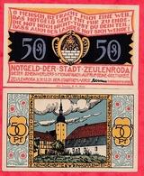 Allemagne 1 Notgeld 50 Pfenning Stadt Zeulenroda UNC Lot N °9 - 1918-1933: Weimarer Republik