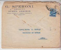 Busto Arsizio Tessuti G. Speroni Per Adria Rovigo - 1946-60: Marcofilia