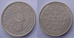 BELGIO 5 E 1987 ARGENTO TREATIES OF ROME CAROLUS PESO 22,85g TITOLO 0,833 CONSERVAZIONE E' LA MONETA DELLA FOTO CATALOGO - 1993-...: Albert II