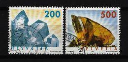 SCHWEIZ - Mi-Nr. 1808 - 1809 Freimarken: Mineralien Gestempelt (4) - Switzerland