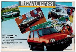 RENAULT GAMME 88 CATALOGUE 18 PAGES 1988 Format 21 X 14.5 FRANCE - Publicités