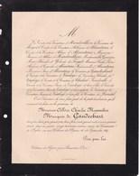 BEAUVAIS OISE Château De L'Epine Albéric Marquis De GAUDECHART 23 Ans 1887 Famille D'ALCANTARA De HARDIVILLIERS - Décès