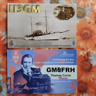 2 PCs Lot - Scientist  Marconi, Radio Inventor  - Old  Postcard 2000s - Historical Famous People