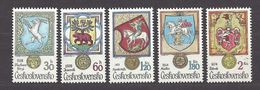 Czechoslovakia Tschechoslowakei 1979 MNH ** Mi 2507-2511 Sc 2240-2244 Animals In Heraldry. Städtewappen Mit Tiermotiven - Czechoslovakia