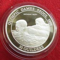 Surinam 50 Gulden 1988 Suriname Olympic Games Seul 1988 Swimming - Surinam 1975 - ...