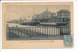 Carte De CALAIS  La Gare Maritime Vue Le Long Des Quais ( Bateau )( Recto Verso ) - Calais