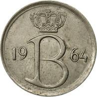 Belgique, 25 Centimes, 1964, Bruxelles, TB+, Copper-nickel, KM:154.1 - 02. 25 Centimes