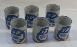 "6 Porcelain Tea Cups "" Sushi Teacups "" - Ceramics & Pottery"