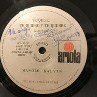 Dos Sencillos Argentinos De Manolo Galván - Vinyl Records