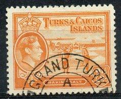 Turks And Caicos Islands 1938  2 1/2p Raking Salt Issue #83 - Turks And Caicos